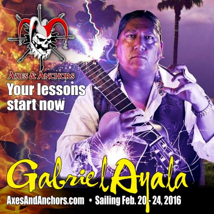 Gabriel Ayala on Axes & Anchors Cruise