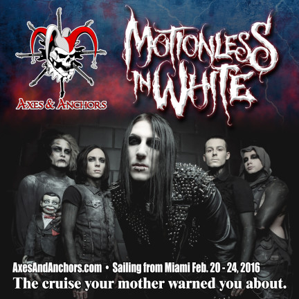Motionless In White on Axes & Anchors Cruise 2016