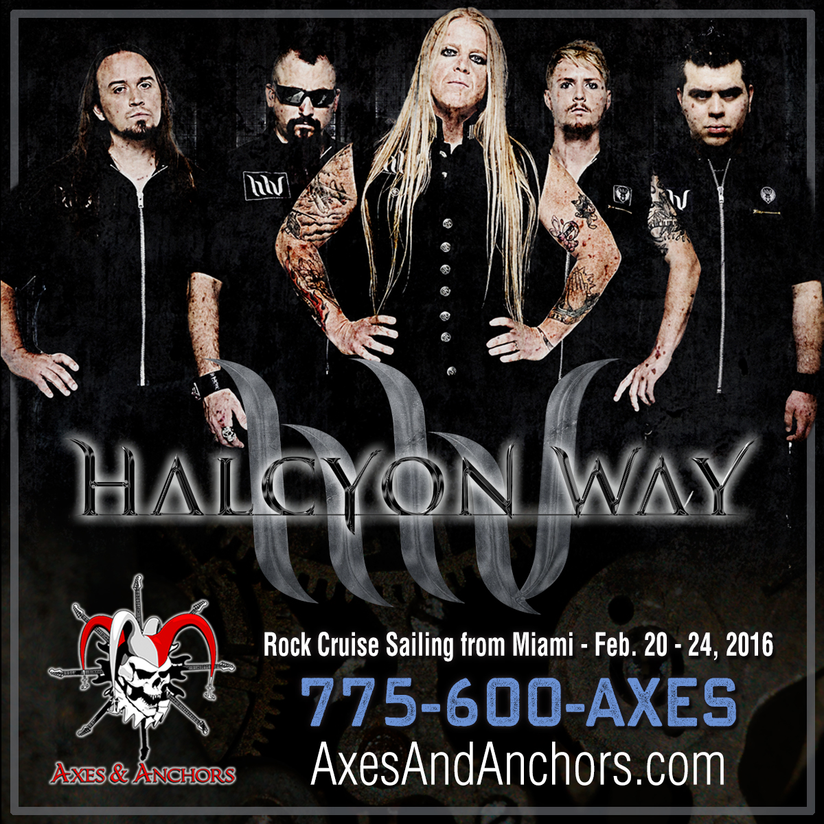 Halcyon Way on Axes & Anchors Cruise