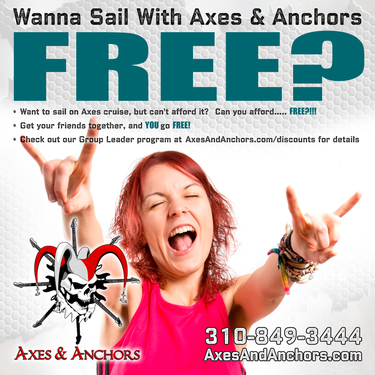 Sail FREE with a group!