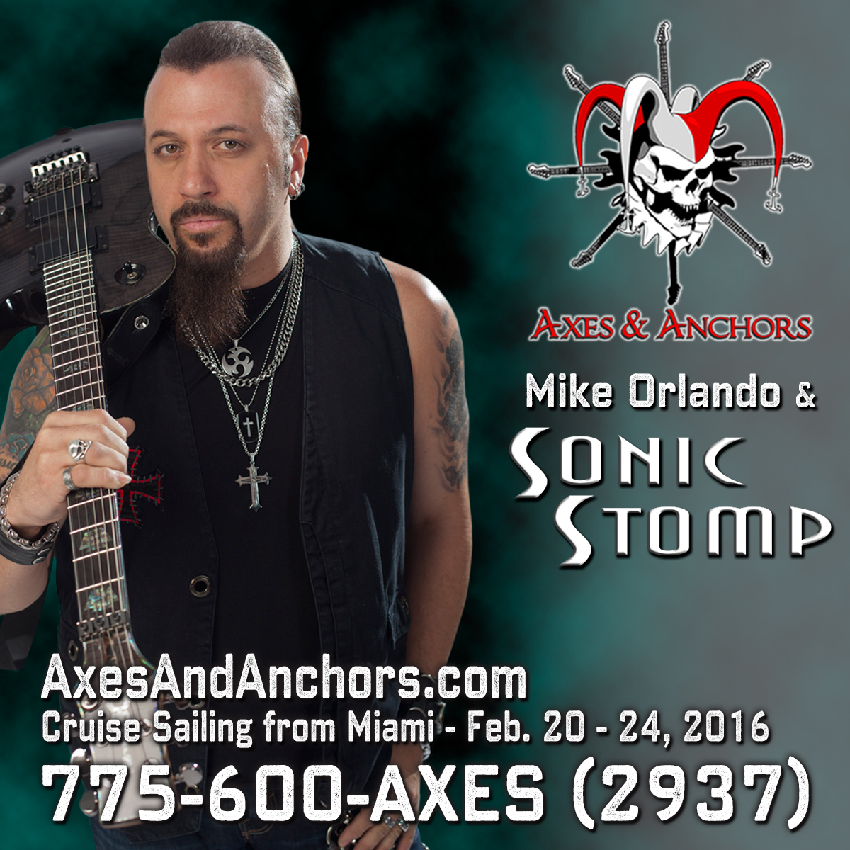 Mike Orlando of Adrenaline Mob on Axes & Anchors Cruise